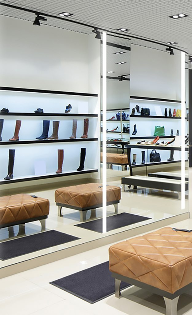 Integrated Light Mirror installed in a store