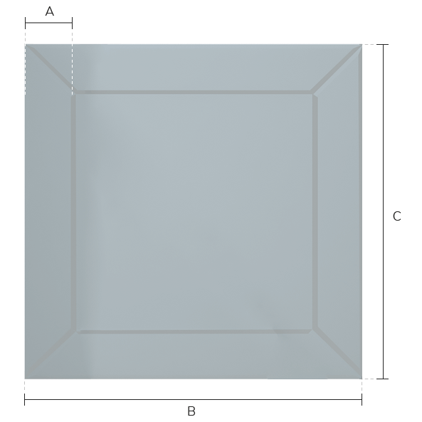Deco Frame model with measurements