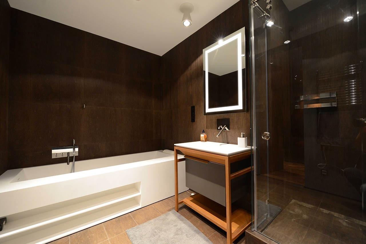 Restroom mirror