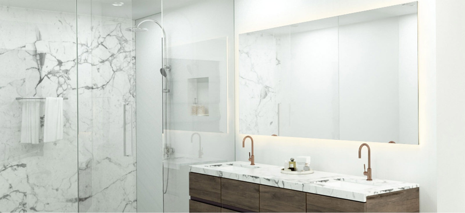 Mirror perfectly in marble