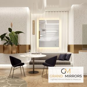 Grand Mirrors Installed in a high class living room of a modern luxury home