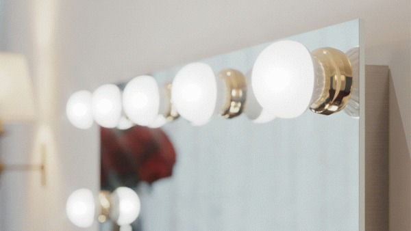 Style your bulb mirror