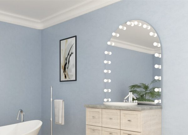 Space up your bathroom with mirror