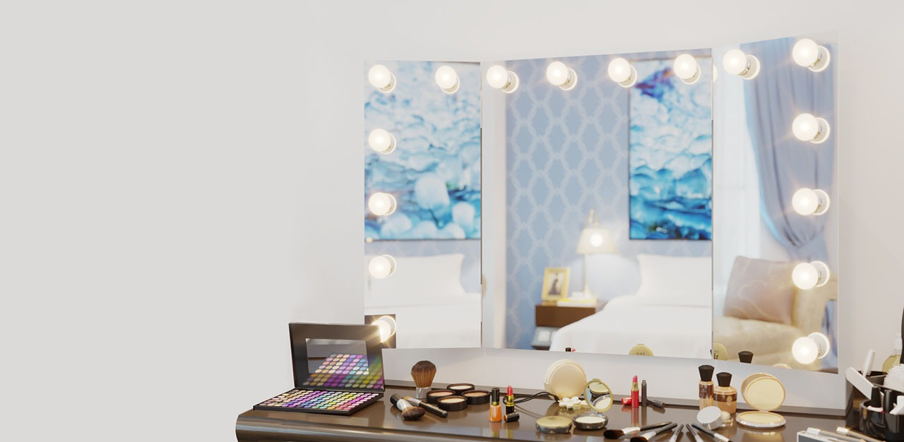 Mirror contouring for a hollywood look