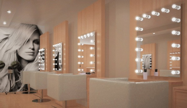 Amazing salon mirror