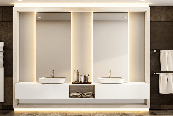 The right shaped mirror will optimise natural light in the room