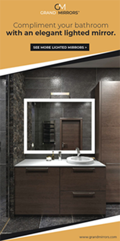 Grand Mirrors Lighted Frame Mirror Poster Ads