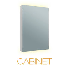 A Grand Mirrors Single Cabinet Lighted Mirror Icon