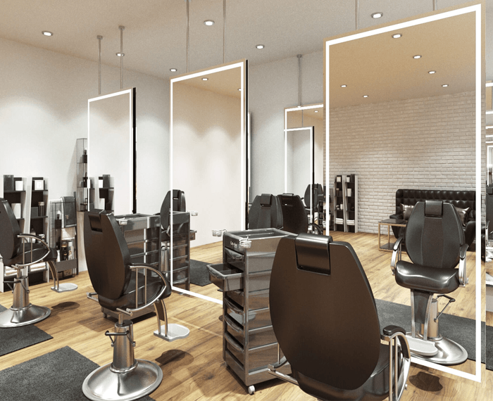Grand Nirrors LUX Pro installed in a salon