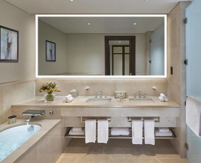 LED mirror backlit for a bathroom