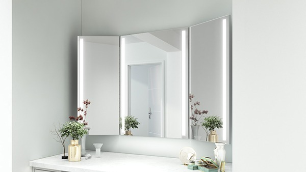 Fitting rooms with LED mirrors