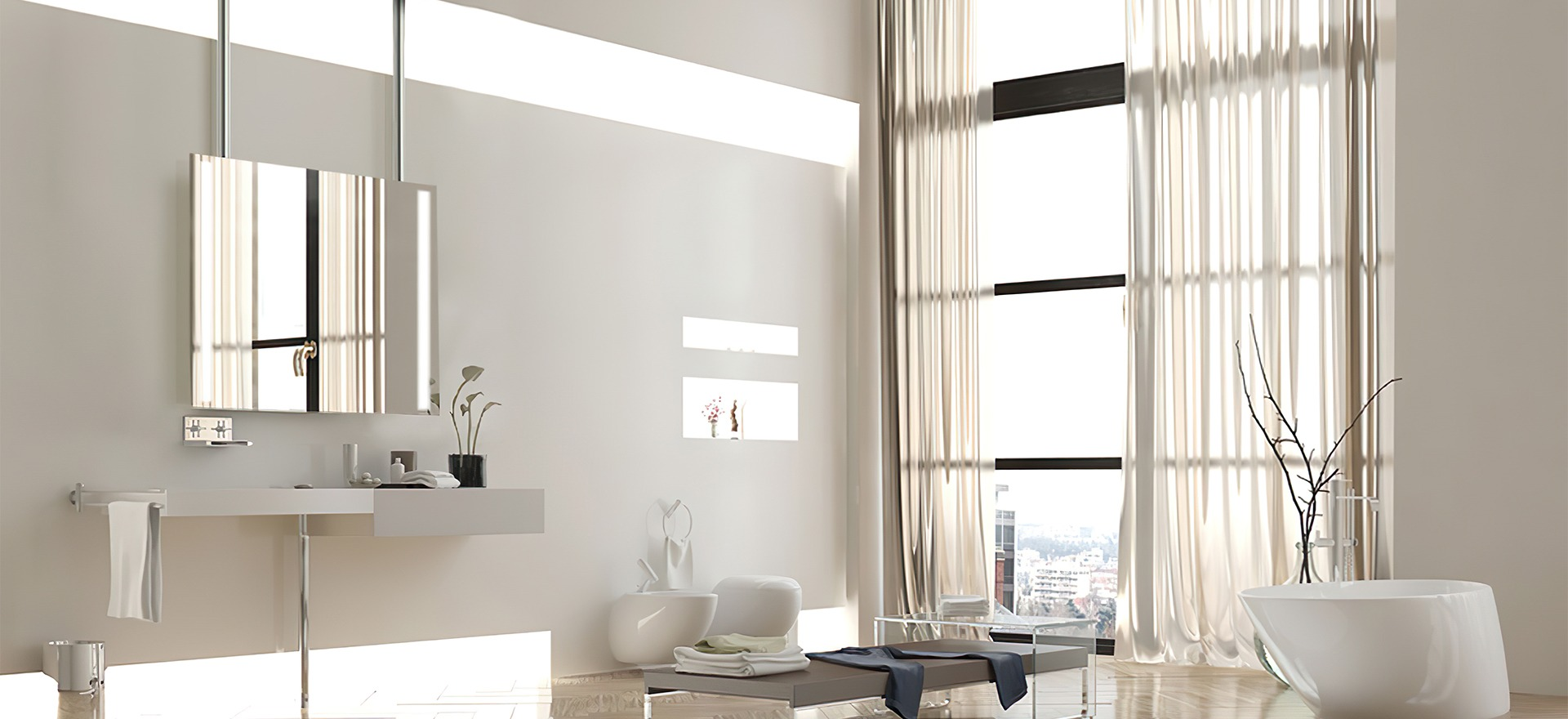 Grand Mirrors Stainless Steel Mount