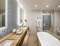 Luminescent bathroom style
