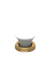 Cool light bulb in gold ring icon for Grand Mirrors