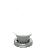 Cool light bulb in silver ring icon
