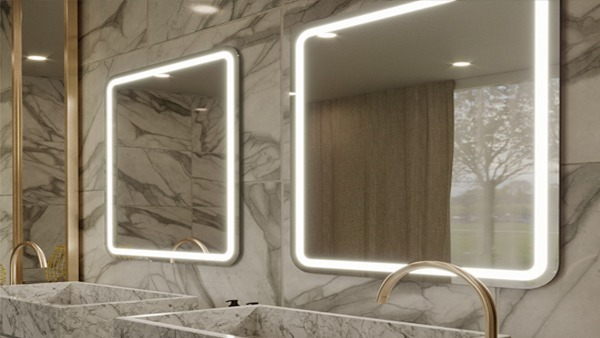 Bathroom with LED mirrors