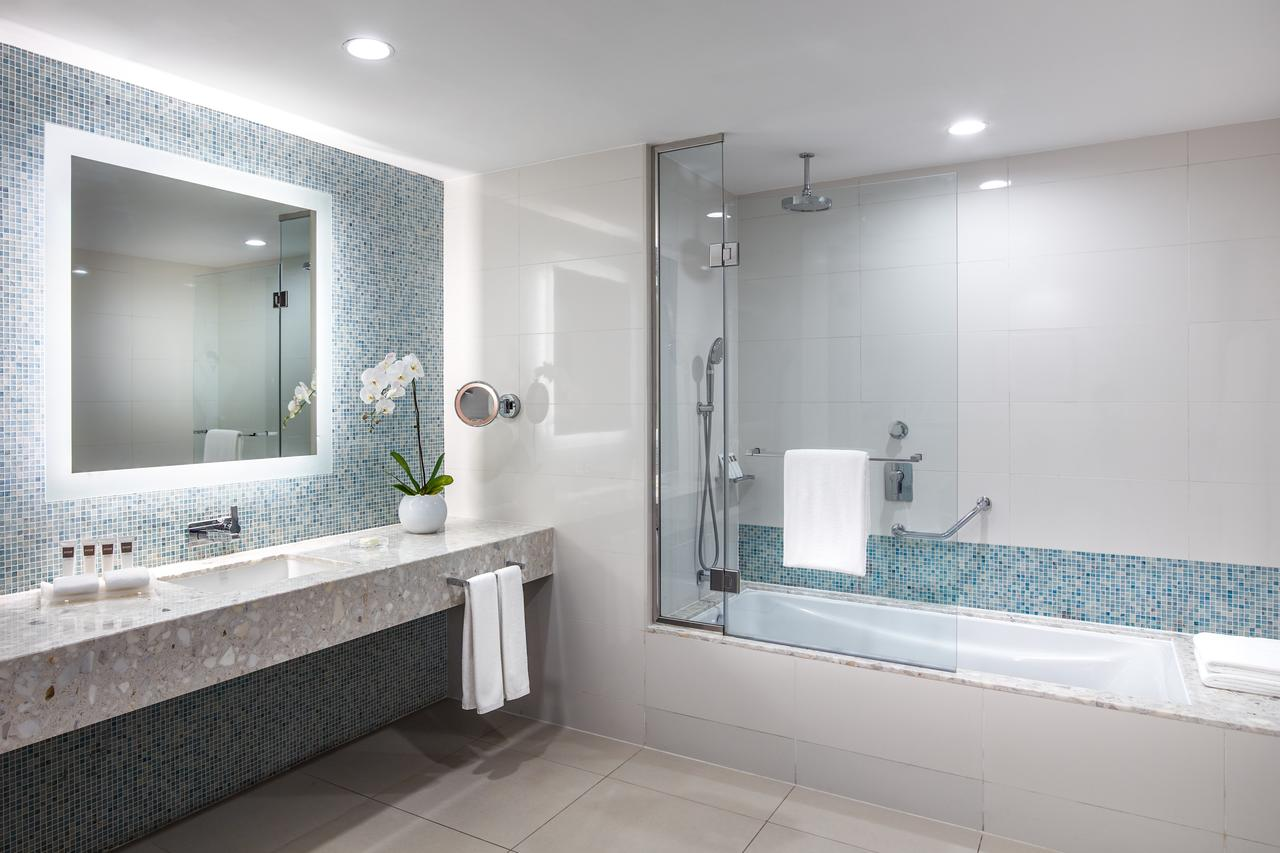 luxurious mirror in bathroom