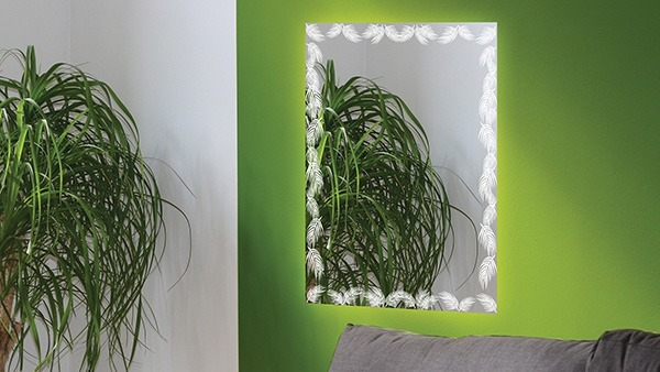 Do something green with mirror