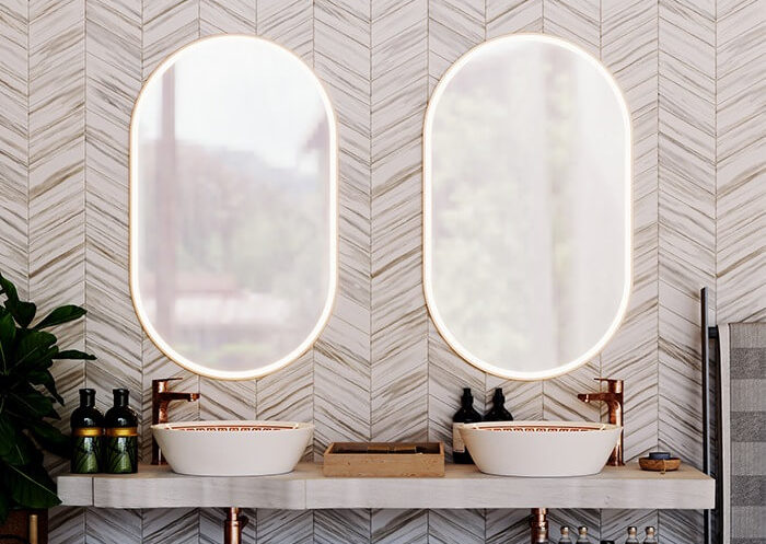 Charm your bathroom with mirrors