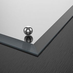 Mirror with bevel edges and LED light