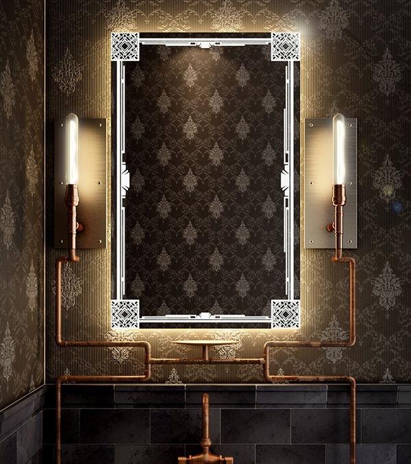 An endless night mirror