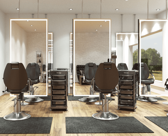 Salon mirrors made in any size and shape