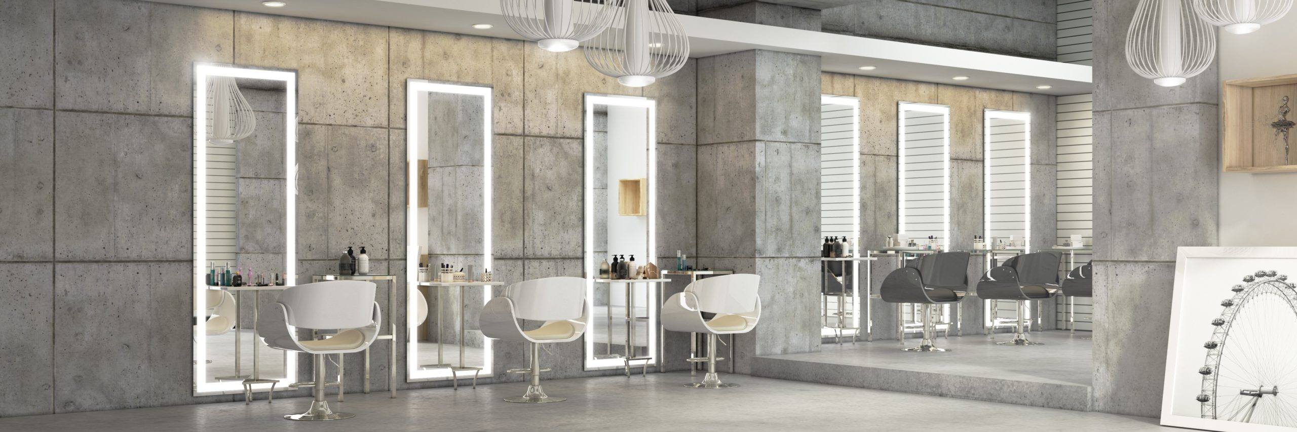 Crafted mirror columns