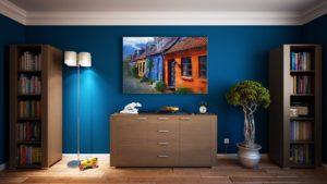 Bold Monochromatic Interior Color with Cobalt Blue