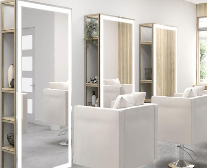 Sheeny marble mirror