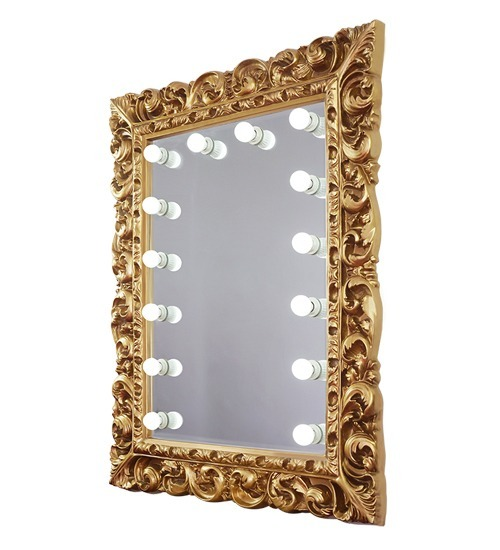 Trendy gold mirror