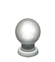 Cool transparent white bulb icon