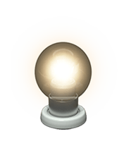 Warm light bulb icon