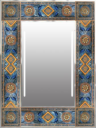 Earth tones mirror